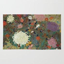 flower【Japanese painting】 Rug