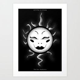The sun Art Print
