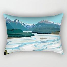 Dart River Valley, Glenorchy Rectangular Pillow