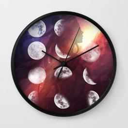 Moon Goddess Selene Wall Clock