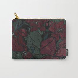 Rich Floral Carry-All Pouch