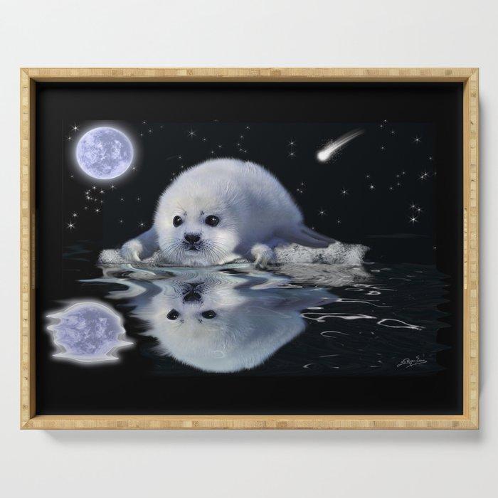 Destiny - Harp Seal Pup & Ice Floe Serving Tray