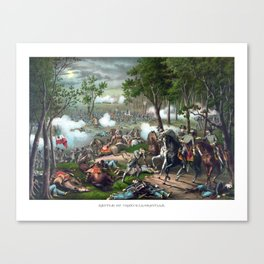 The Battle of Chancellorsville Canvas Print