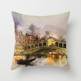 Venezia, Canal Grande Throw Pillow