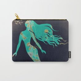 Turquoise Mermaid Carry-All Pouch