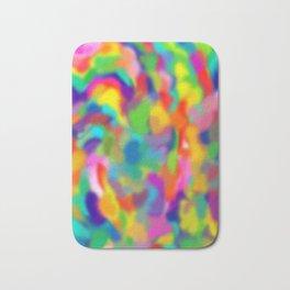 """Rainbow """"Watercolor"""" Bath Mat"""