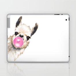 Bubble Gum Sneaky Llama Laptop & iPad Skin