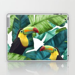 Toucans Tropical Banana Leaves Pattern Laptop & iPad Skin