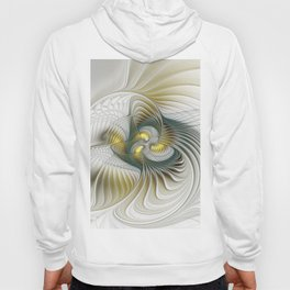 Noble And Golden, Abstract Modern Fractal Art Hoody