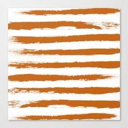 Autumn Maple STRIPES Handpainted Brushstrokes Canvas Print