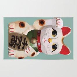 Maneki Neko (Fortune Cat) Polygon Art Rug