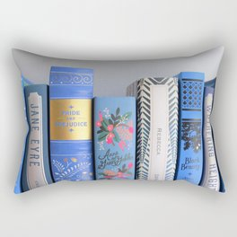 Shelfie in Blue Rectangular Pillow