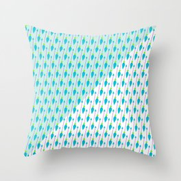 Artistic green teal hand painted bohemian arrows Throw Pillow
