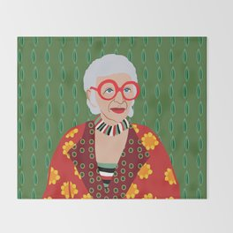 Iris Apfel Throw Blanket