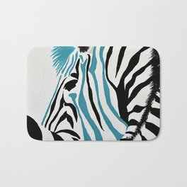 punk rock zebra Bath Mat