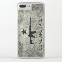 Come and Take it Flag with AR-15 Clear iPhone Case