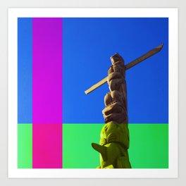 Totem Pole #2 Art Print