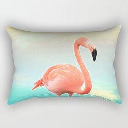 Sunset Flamingo Rectangular Pillow
