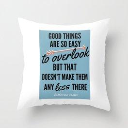 GOOD THINGS Throw Pillow