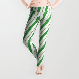 Green Peppermint - Christmas Illustration Leggings