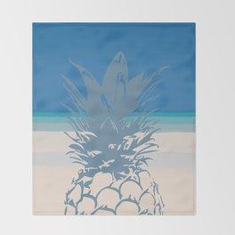 Pineapple Tropical Beach Design Throw Blanket