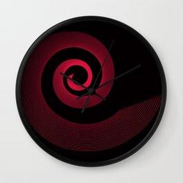 Red black spirale 5 Wall Clock