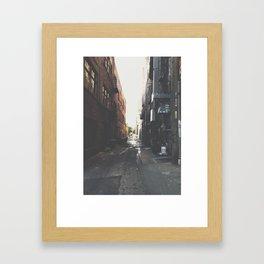 NW ALLEYS Framed Art Print