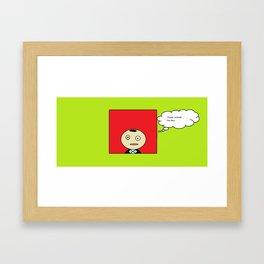 Think Outside of the Box Framed Art Print