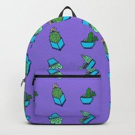 cactus on violet background . Art Backpack