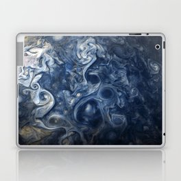Swirling Blue Clouds of Planet Jupiter from Juno Cam Laptop & iPad Skin