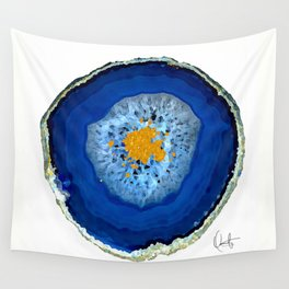 Agate Blue  Wall Tapestry