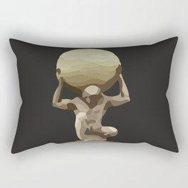 Man with Big Ball Illustration dark grey Rectangular Pillow