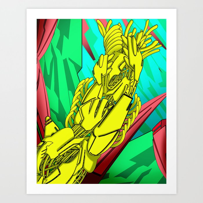AUTOMATIC WORM 5 Art Print
