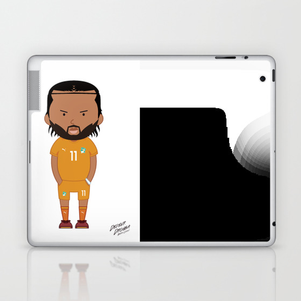Didier Drogba - Ivory Coast - World Cup 2014 Laptop & Ipad Skin by Toonsoccer LSK9022451