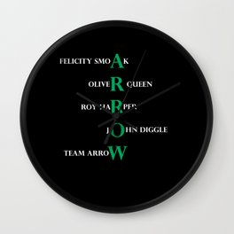 team arrow Wall Clock