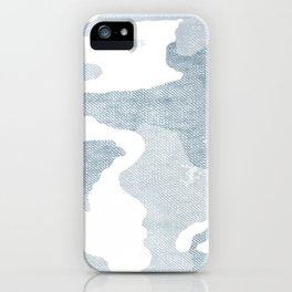 Chambray camo iPhone Case