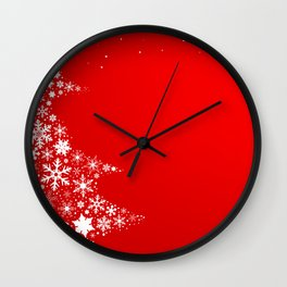 Red Christmas Wall Clock