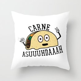 Carne Asuuuhdaaah Throw Pillow
