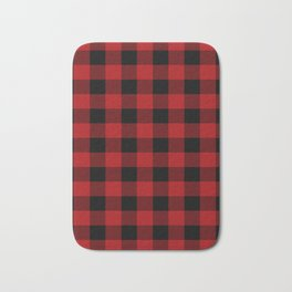 Red & Black Plaid Bath Mat