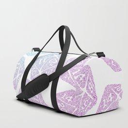 d20 pattern dice gradient pastel - icosahedron Duffle Bag