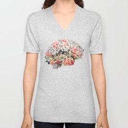 Flower Brain Unisex V-Neck