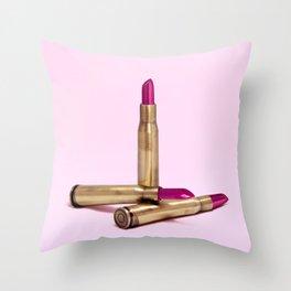 LIPSTICK BULLET Throw Pillow