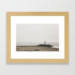 Santa Cruz Light House Framed Art Print