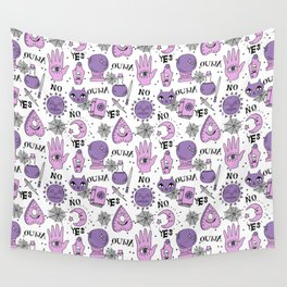Ouija halloween potions crystal ball witch magic sorcerer pattern by andrea lauren Wall Tapestry