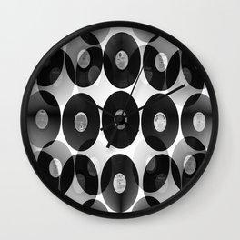 Something Nostalgic II - Black And White #decor #buyart #society6 Wall Clock
