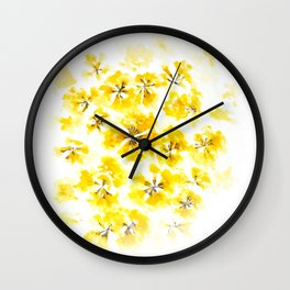 Golden Trumpet-tree Wall Clock