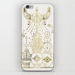 Santa Fe Garden – Gold Ink iPhone Skin