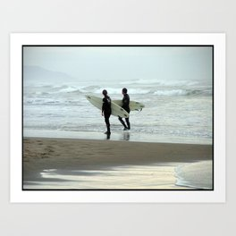 Dreaming Surfers Art Print