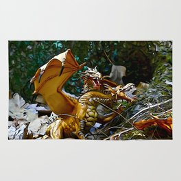Golden Dragons Nest Rug