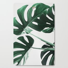 Monstera, Leaves, Plant, Green, Scandinavian, Minimal, Modern, Wall art Cutting Board